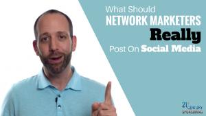 Network Marketing Tips For Posting On Social Media